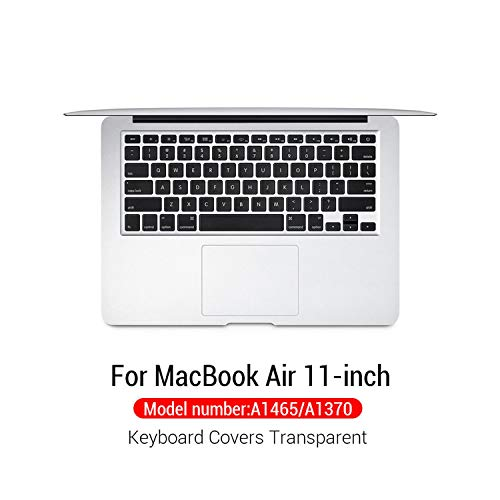 Silicone Keyboard Cover Protector Skin For Macbook Pro For Mac 15 Air 13 With Touch Bar Soft keyboard Transparent Case-Model A1465 A1370-