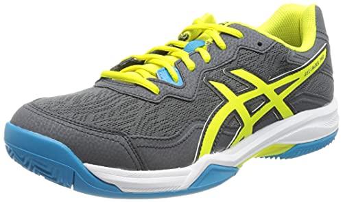 Asics Gel-Padel Pro 4, Indoor Court Shoe Hombre, Carrier Grey/Sour Yuzu, 46.5 EU