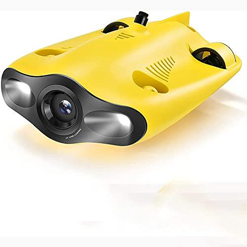 LZHYA Drone Subacuático, 4K 1080P 12MP UHD, inmersión a 330 pies, cámara en Tiempo Real, RC Mini UAV Underone, HD Transmisión de Imagen cámara submarina Drone Fotografía y vídeo subacuático