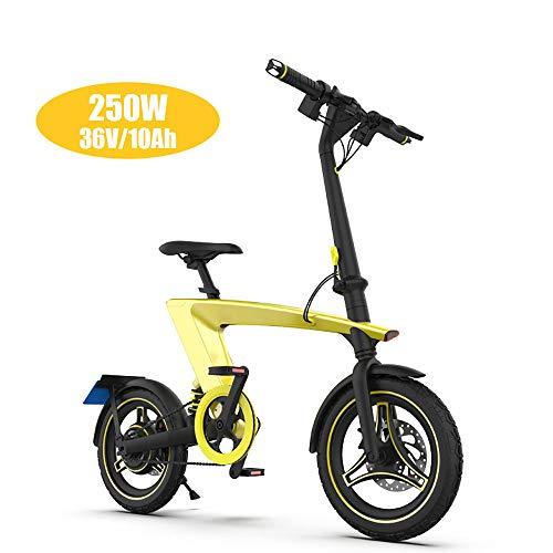 Super-ZS Elektrische fiets, multifunctioneel, borstelloze motor, 250 W, 14 inch banden, 45 – 55 km lange levensduur, draagbare accu, inklapbaar voor volwassenen