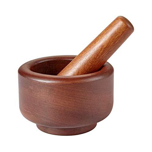 ELXSZJ XTZJ Mortero de bambú y Maja de ajo ajo Prensa Jinger Llusher Spices Set de muelas Ajo Mincer Herb Spice Spice MASTERA ARINDER HERRAMIENTE DE Cocina