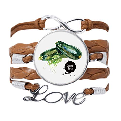 DIYthinker Zucchini Vegetable Tasty Healthy Watercolor Bracelet Love Chain Rope Ornament Wristband Gift