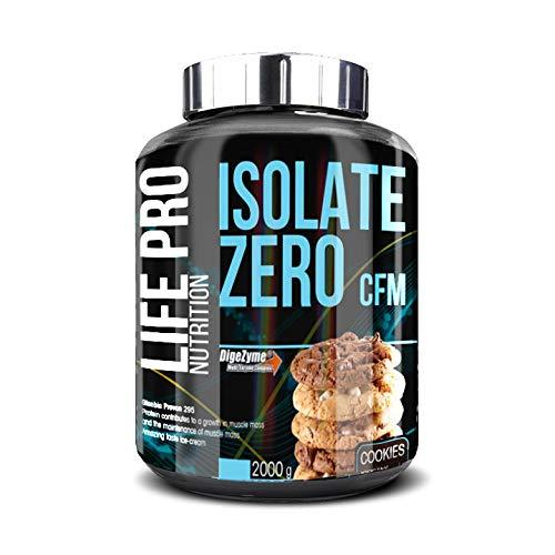 Life Pro Isolate Zero 2Kg | Suplemento Deportivo de Aislado de Proteína de Suero 87%, Mejora Rendimiento Físico y Recuperación, Sabor Cookies