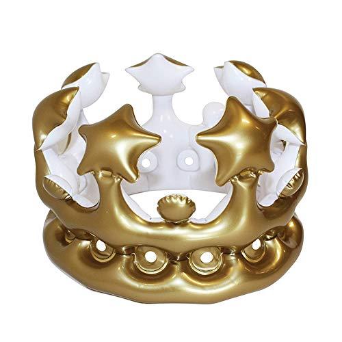 Vixzero - Corona Gonfiabile da Regina per Adulti, Ideale per Feste di Addio al Nubilato