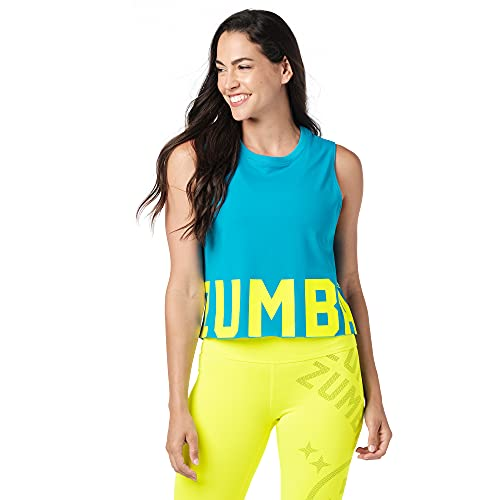 Zumba Camiseta sin mangas corta para mujer - azul - Small