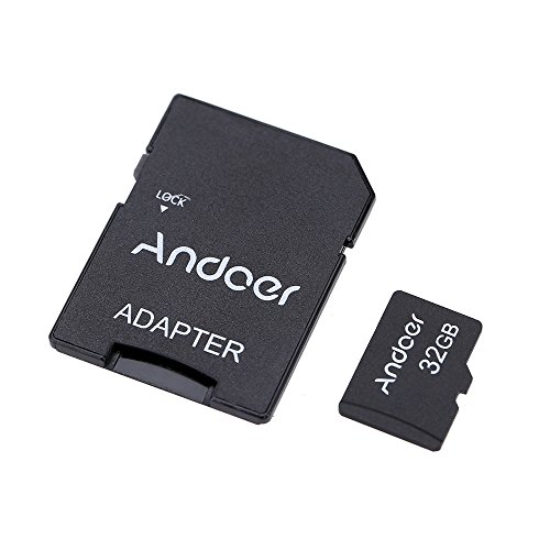 Andoer 32GB Class 10 Memory Card TF Card + Adapter for Camera Car Camera Cell Phone Table PC Audio Player GPS