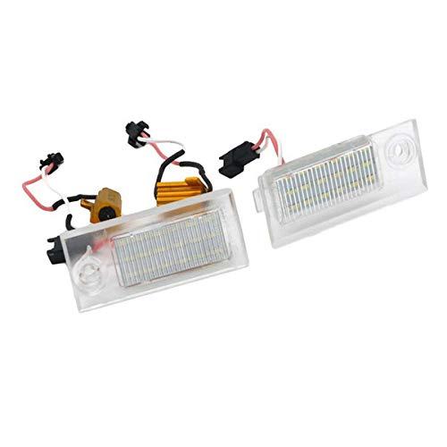 GOFORJUMP 2Pcs 18SMD LED Lampe de numéro de Plaque d'immatriculation pour A/UDI A6 C5 / 4B Berline 1997-2004 6500K