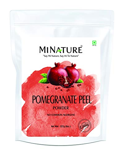 mi nature Pomegranate Peel Powder (Punica granatum) | 100% Pure and Natural | 227g(8oz) (1/2 lb) | Non-GMO | Rich in anti-oxidants and Vitamin C| Skin and Hair Mask | Resealable Zip Lock Pouch…