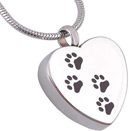 Aluyouqi Co.,ltd Collar con Colgante de cremación para Mascotas para Perros con Memoria o joyería de cremación de Acero Inoxidable para Gatos