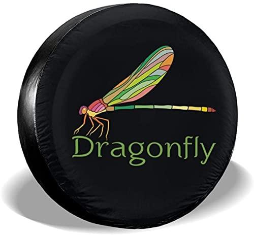Cubierta colorida para llantas de repuesto Dragonfly,poliéster,universal,de 16 pulgadas,para llantas de repuesto para remolques,vehículos recreativos,SUV,ruedas de camiones,camiones,caravanas,accesor