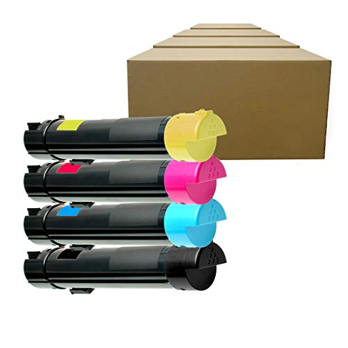 Inktoneram Compatible Toner Cartridges Replacement for Dell 5130cdn 330-5846 330-5850 330-5843 330-5852 High Yield ([Black,Cyan,Magenta,Yellow], 4-Pack)