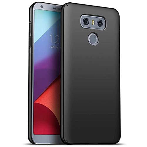 NiaCoCo Compatible con Funda LG G6 Silicona para PC A Prueba de choques Ultra Delgado Anti-rasguños Estuche Protector para LG G6-Negro