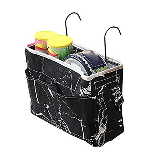 Dastrues Bedside Storage Caddy Hanging Organizer Bag Holder Multiple Pockets Bag for Dormitory Room Study Chair Car Seat, Cute Bedside Caddy Storage Bag for Magazines, Pens, Phones, Keys, Wallets