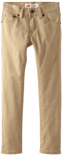 Levi's Boys' Big 510 Super Skinny Fit Jeans, British Khaki, 12
