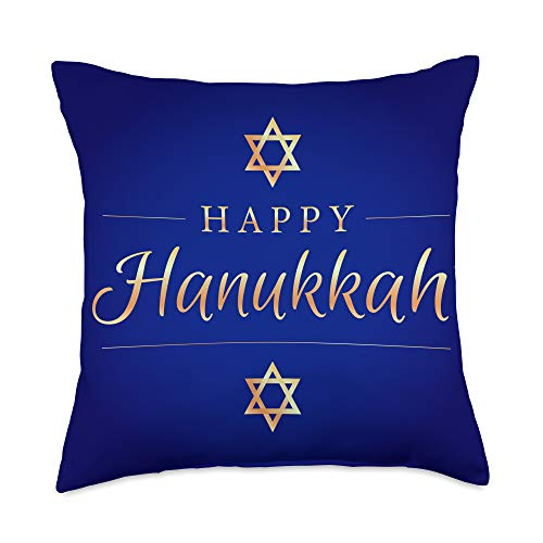 We Love Hanukkah Co. Happy Hanukkah Hanukah Chanukah Jewish Celebration Throw Pillow, 18x18, Multicolor