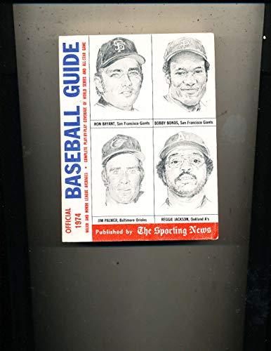 1974 Reggie Jackson Boby Bonds Baseball Guide TSN em bxbg