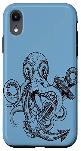 iPhone XR Octopus with anchor steampunk tattoo Case