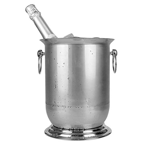 XZHSA Ice Buckets with Stainless Steel - Insulated Stainless Steel Champagne Bucket, Beverage Bucket, Beer Barrel Ice Holder for Party, Event, and Gathering