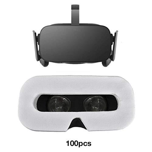 iYoung 100 stücke weiche atmungsaktive vliesstoffe, einweg Augenmaske Hygiene Augenmaske universal Gesicht Abdeckung für HTC Vive pro Oculus Quest rift s go für ps4 vr für ventil Index vr