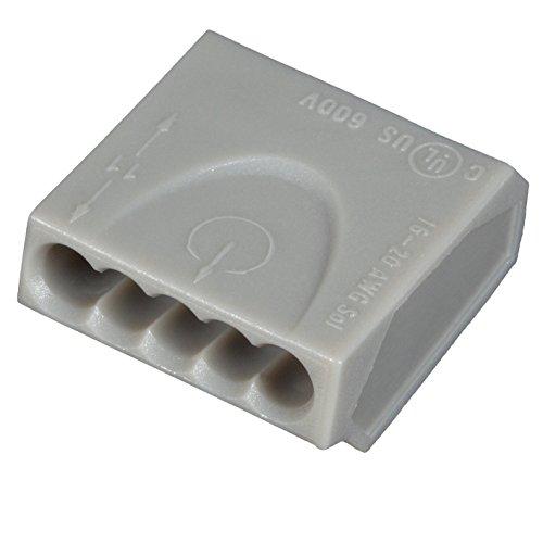 ViD® C1005151 Verbindungsklemme/Steckklemme grau 5 x 0,5-1,5 mm² - 100 STÜCK Dosenklemme