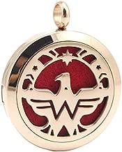Wonder Aromatherapy Power Necklace, USA Eagle Freedom Pendant, Chenier Design Rose Gold Gift Jewelry