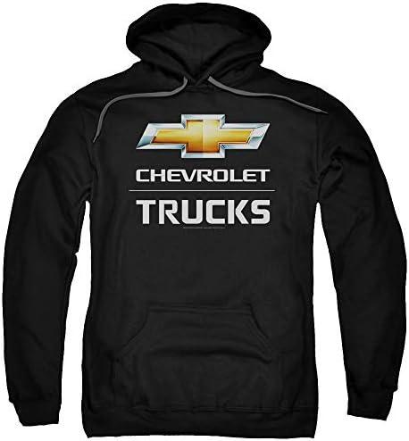Chevrolet Trucks Unisex Adult Pull Over Hoodie for Men and Women Medium Black product image