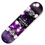 HCH Tablas de Skate Tabla de Skate Monopatín estándar de Cuatro Ruedas de Arce Tabla Corta para niños Trucos para Adultos Tabla de Skate para Principiantes y Profesionales