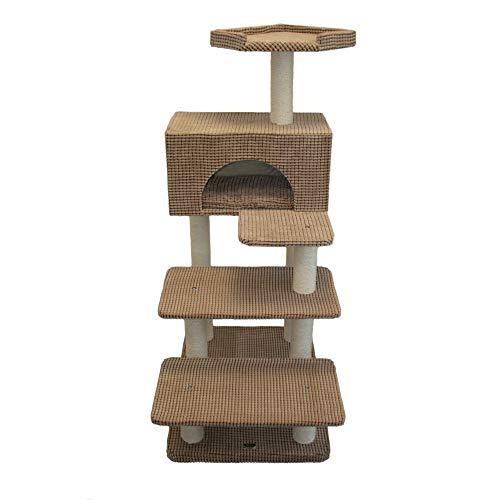Bontoy Phill - Rascador para gatos (130 cm), color marrón claro