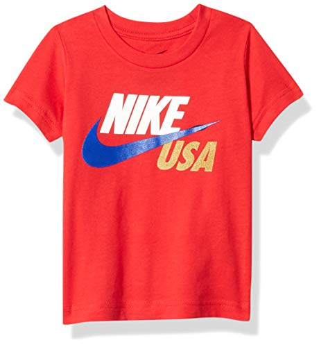 Nike Kids Baby Boy's Short Sleeve Americana Graphic T-Shirt (Toddler) University Red 2T Toddler