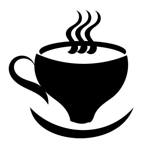 Wandaufkleber Wandtattoos Dampfende Teetasse Und Untertassenpapier Wasserdichtes Pvc Abnehmbares Wohnzimmer Fertige Größe 44X44Cm
