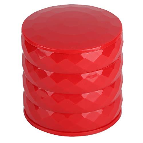 Joyero, Simple y Moderno, Que Ahorra Espacio, tamaño pequeño, Organizador de Joyas, Bandeja para Guardar Anillos, Pendientes, Pulsera(Rojo)