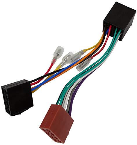 AERZETIX: Extensión 20cm Conector Enchufe ISO 13PIN 8+5 para autoradio precableado Universal Potencia+Sonido Altavoces recintos Macho Hembra C12066