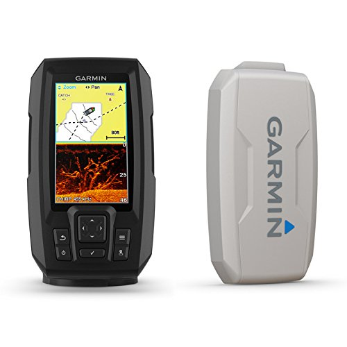 Garmin STRIKER PLUS 4cv Bundle with CV20-TM transducer and Protective Cover, 4 inches 010-01871-00