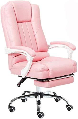 Sillas de Oficina Juego Silla Racing Computer Oficina Silla Boss Silla Estudio Silla Altura Ajustable (Color : Pink)