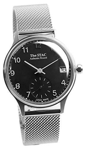 [ザ・スタック] The STAC 日本製 国産 腕時計 ウォッチ 36mm ブラック メッシュベルト アンティーク レトロ メンズ レディース ユニセックス ブラックメッシュ