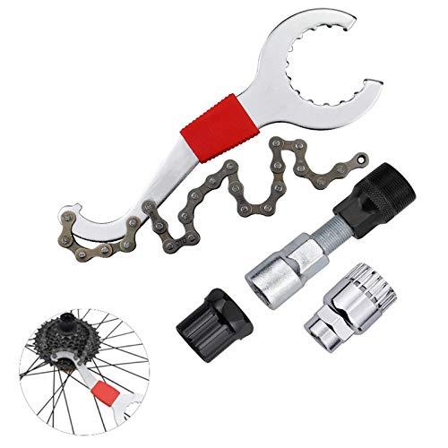 Extractor de Manivela de Pedalier Herramienta de Pedalier Extractor de Manivela Extracción de Cassette de Bicicleta Kit de Reparación Bicicleta Multifuncional Reparación de Juego de Bicicleta Cassette