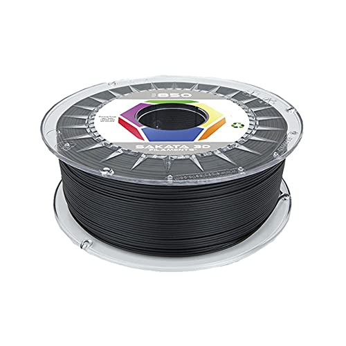 SAKATA 3D - 1Kg de Filamento PLA3D850 1.75MM, Ingeo Biopolymer 3D850 para impresoras y pluma 3D. Fabricado en España (Negro)