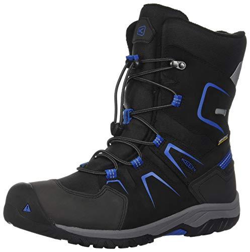 KEEN Unisex-Kinder Levo Botte D'hiver Imperméable Trekking- & Wanderschuhe, Schwarz (Black/Baleine Blue 001), 34 EU
