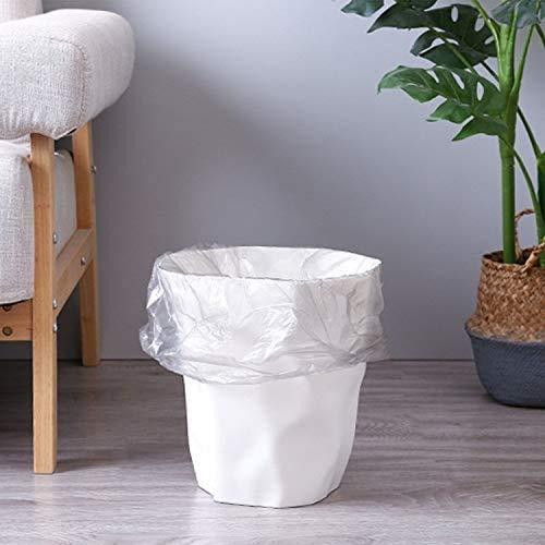 Productos domésticos MMGZ 5 PCS Plegable Creativo del hogar Lidless plástico Bote de Basura, Tamaño: L (Blanco) (Color : Black)