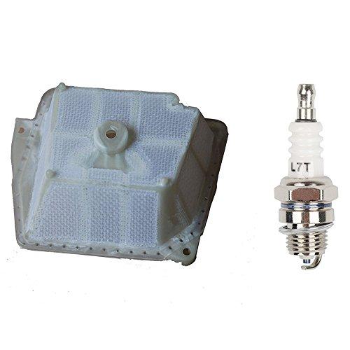 Ouyfilters filtre à air remplacer 1135 120 1601 avec bougie d'allumage pour tronçonneuse Stihl Ms341 Ms361