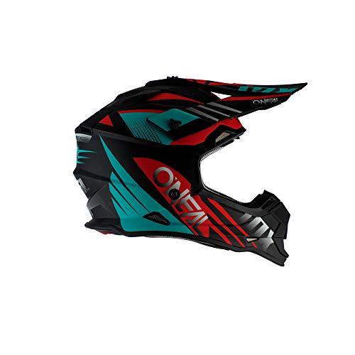 O'NEAL 2 Series Spyde 2.0 Motocross Enduro MTB Helm schwarz/rot/türkis 2020 Oneal: Größe: M (57-58cm)