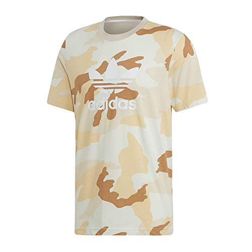 adidas Camo tee T-Shirt, Hombre, Multicolor/Clear Brown, L