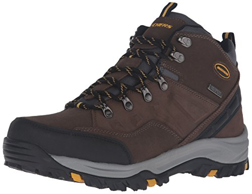 Skechers Men's Relment-Pelmo High Rise Hiking Boots, Brown (Khaki Khk), 9.5 UK 44 EU