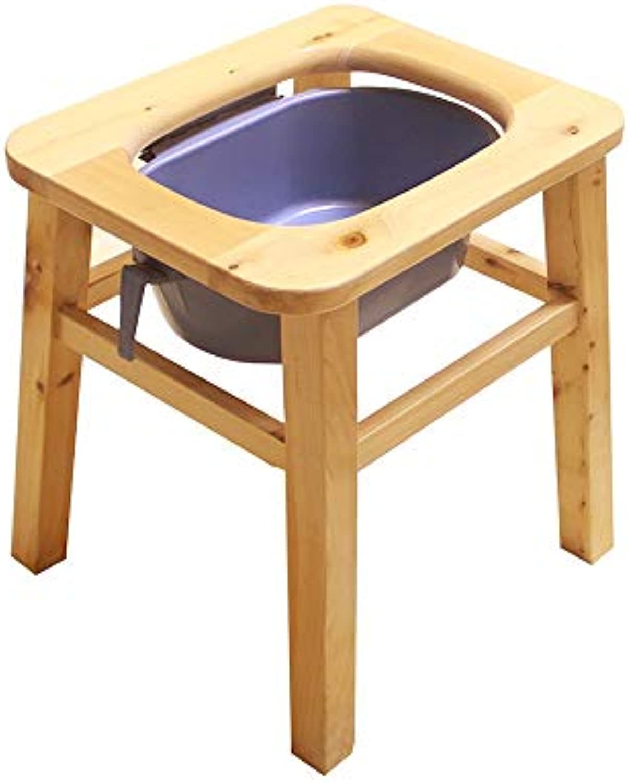 XSJZ Mobile Toilette, Abnehmbares WC Aus Massivem Holz für ltere ltere Schwangere Frauen Indoor Outdoor Bequemer Gebrauch (gre   40cm)
