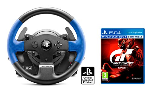 """Volant PS4 Originale Sous licence PlayStation 4 Thrustmaster T150 RS """"Force Feedback"""" + Gran Turismo Sport """"GT Sport"""""""