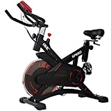 ISE Training Bike <span class='highlight'>Indoor</span> <span class='highlight'>Exercise</span> Bike, Ergonomic Fitness Bike with Pulse Sensor,13KG,Max.120KG, Adjustable Resistance with LCD Display, Space Saving, SY-7005-1