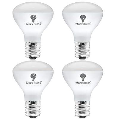 4 Pack R14 LED Bulb 4W E17 Base Mini Reflector Floodlight Light Bulb Dimmable 4000K Cool White - 40W Equivalent - e17 LED Bulb Dimmable E17 Intermediate Base Mini Light Bulbs, Curio Cabinet Light Bulb