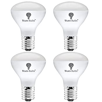 4 Pack R14 LED Bulb 4W E17 Base Mini Reflector Floodlight Light Bulb Dimmable 2700K Warm White - 40W Equivalent - e17 LED Bulb Dimmable E17 Intermediate Base Mini Light Bulbs Curio Cabinet Light Bulb