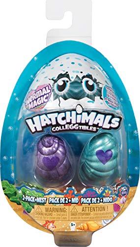 Hatchimals 2 CollEGGtibles Sammelfiguren im Ei Mermal Magic (S5), 2er - Pack + Nest