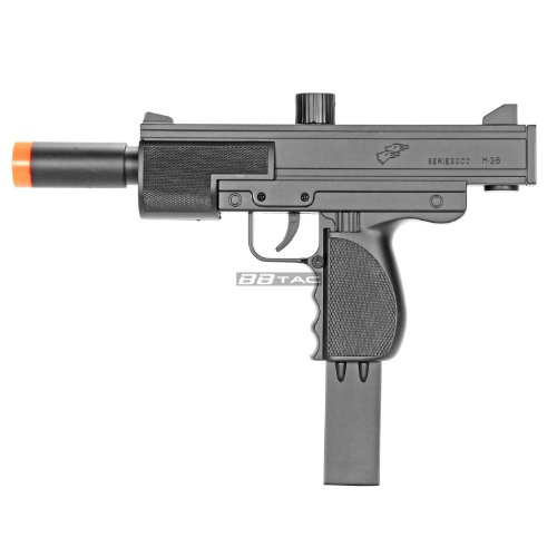 bbtac m36 smg's airsoft spring gun with silencer muzzle 250 fps with 18 round clip/magazine(Airsoft Gun)